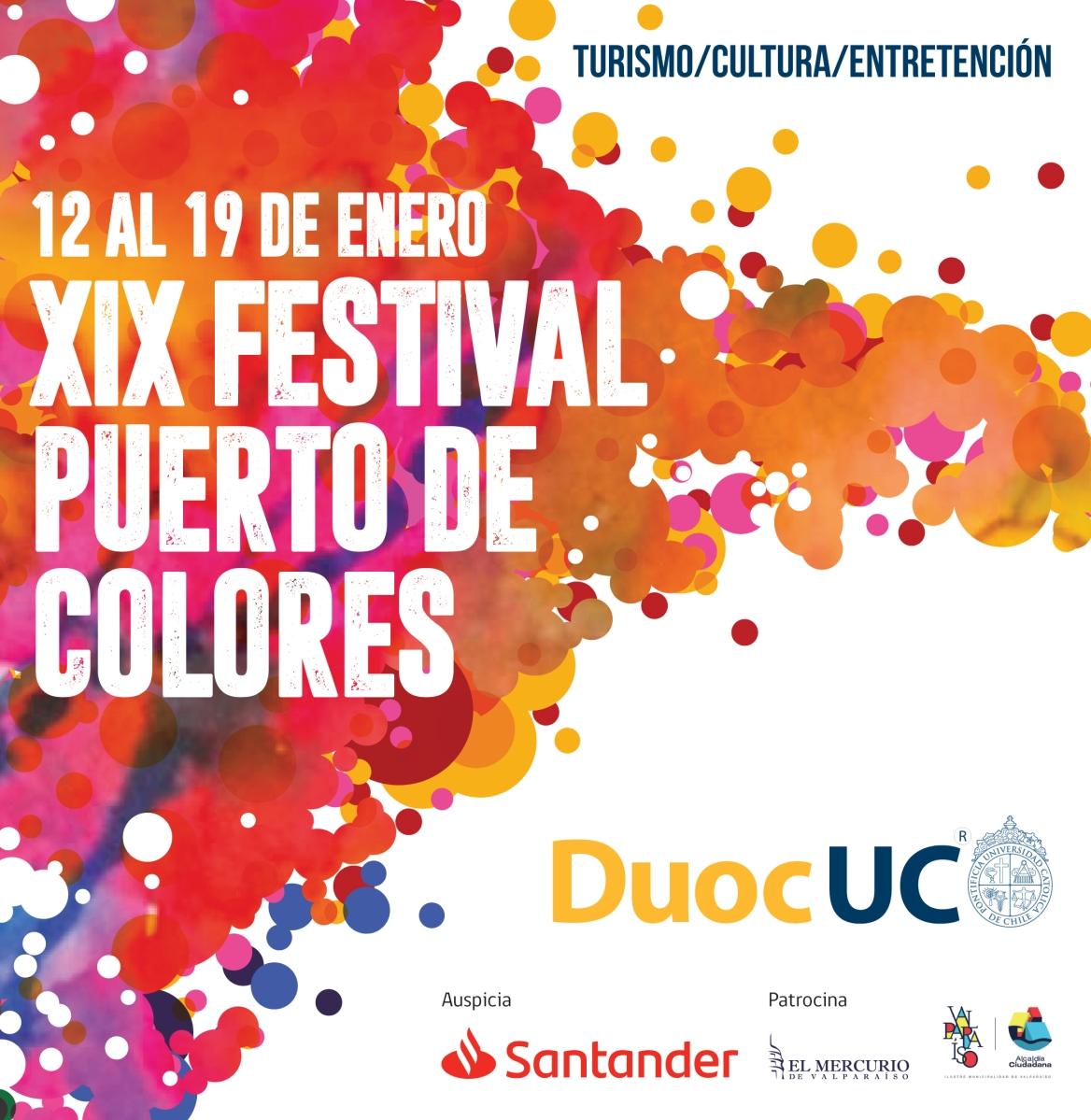 Aquí toda la programación del Festival Puerto de Colores DUOC UC