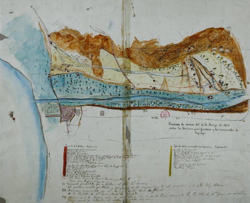 Mapa de la Batalla de Los Loros (derechos cedidos a la SPPMG)