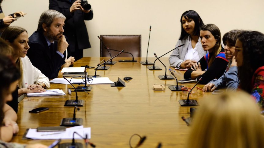 Bancada Feminista se reúne con ministra Plá y ministroBlumel