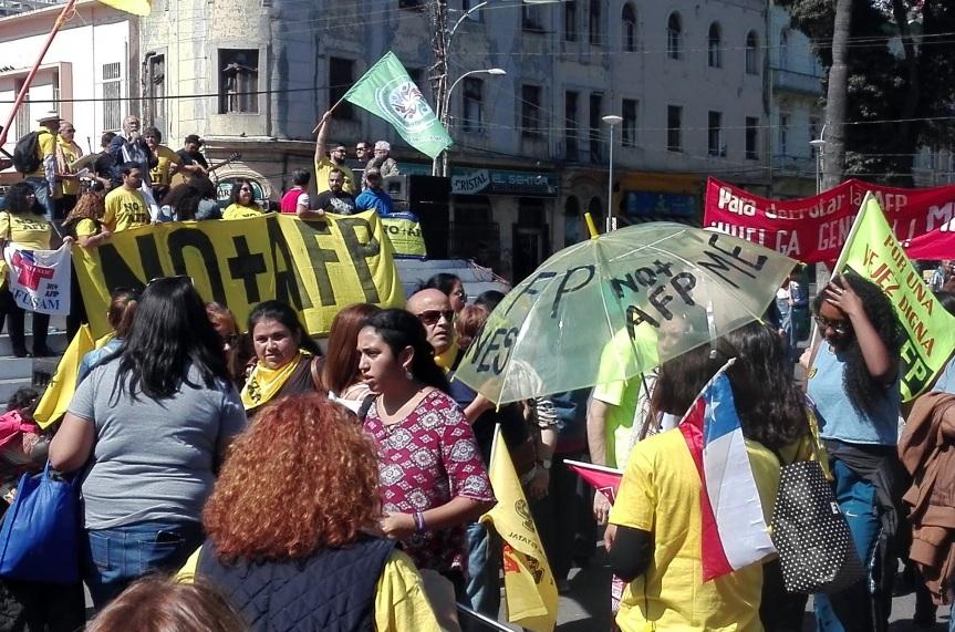 [FOTOS] Marcha No más AFP enValparaíso