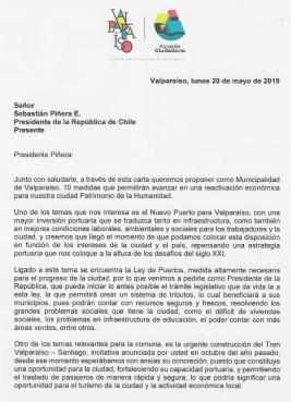 Carta al Presidente 1