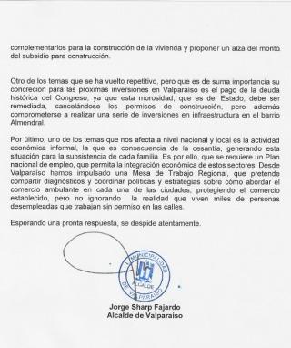 Carta al Presidente 3