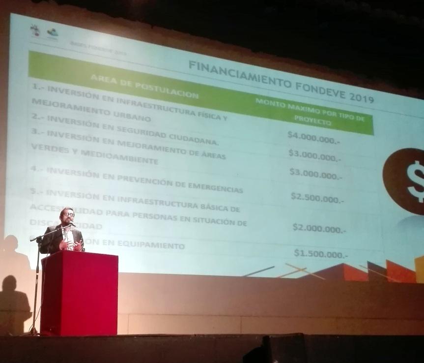 Fondos municipales FICVAL, FONDEVE y FONDEPORTE otorgarán $650 millones para proyectos en2019