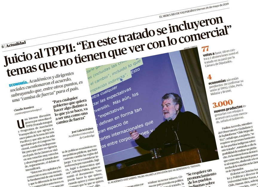 [OPINION] La noticia de hoy según Yo Quiero Mirar: La camisa de fuerza del TPP11 (por GonzaloIlabaca)