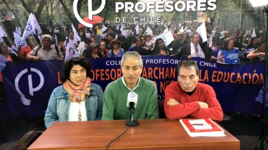 """Balance del Colegio de Profesores #Día11: """"Rompimos el cerco mediático y obligamos al gobierno a sentarse aconversar"""""""