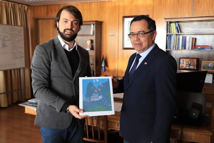 Alcalde Sharp e intendente Martínez abordan plan de desarrollo y proyección económica delPladeco