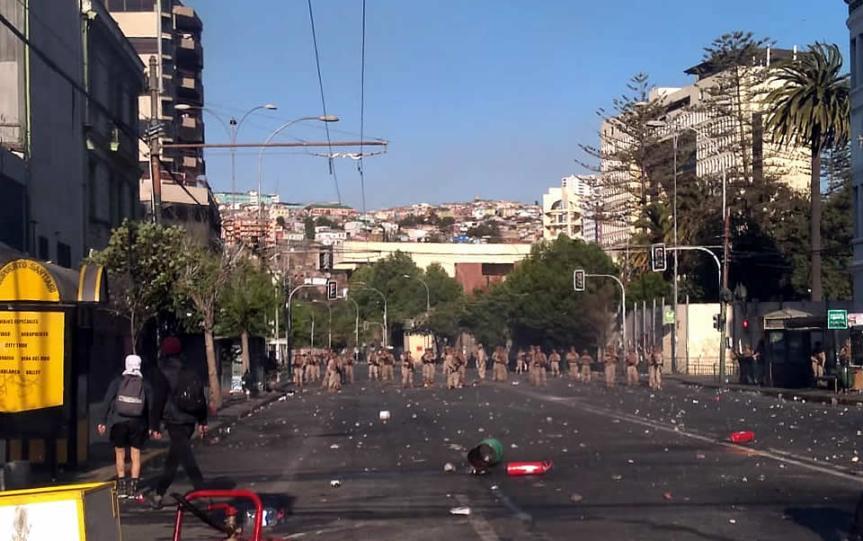SIDARTE condena presencia de militares en calles de Valparaíso e invita a sumarse al Paro Nacional del 21 deoctubre