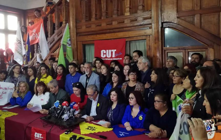 Mesa de Unidad Social llama a paro nacional productivo para este miércoles 30 deoctubre