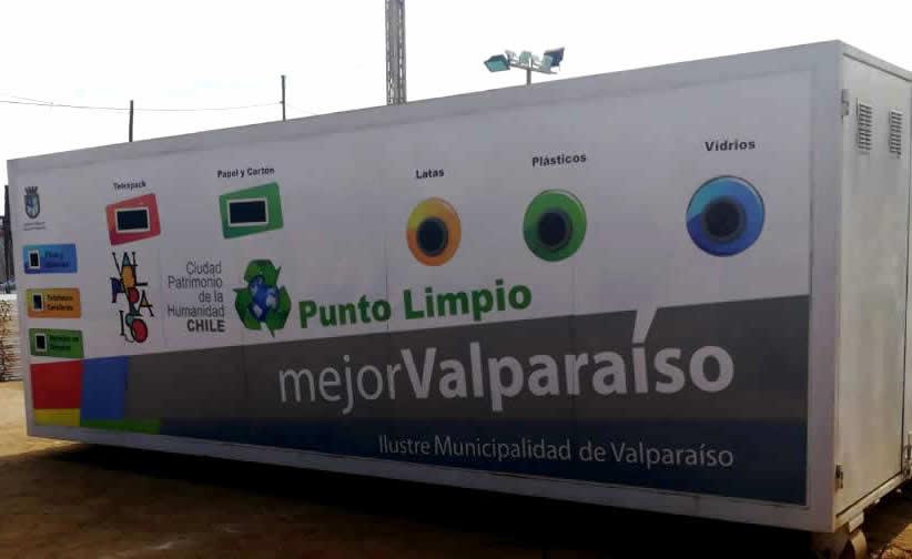 Estos son los puntos verdes de reciclaje enValparaíso