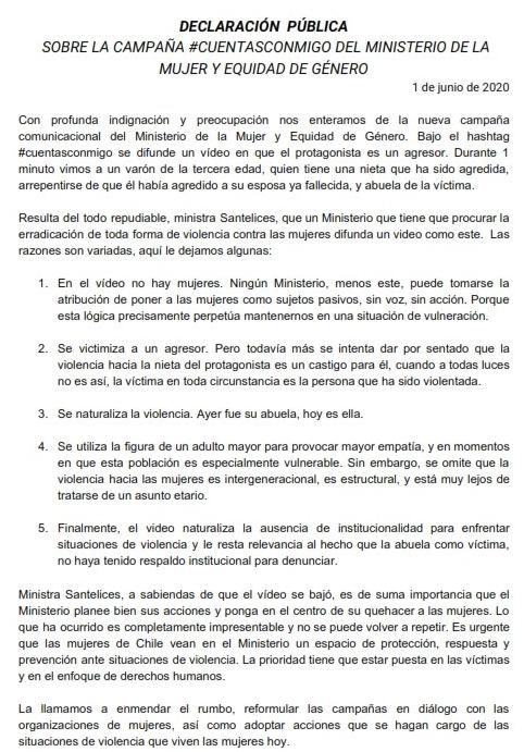 Declaración Pública sobre la Campaña #CuentasConmigo_001