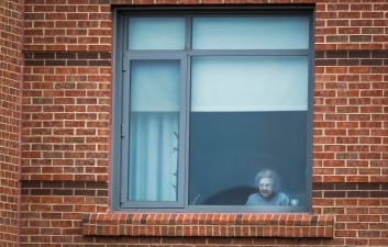 Nursing Home Puts On Musical Performance While Residents Watch From Windows